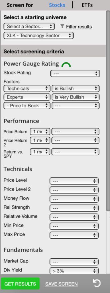 Figure 5 - Screen Settings